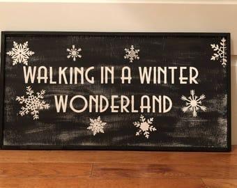 Walking in a winter wonderland!