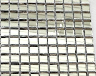 100 Mini Glass Mirror Mosaic Tiles, Mosaic Supplies, Craft Supplies