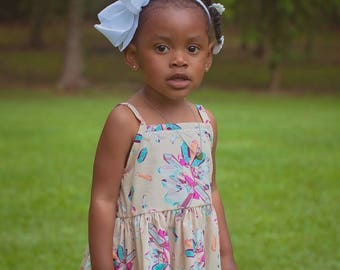 Tucson Top and Dress PDF Sewing Pattern, including sizes 12 months-12 years, Swing Top, Girls Dress Pattern, Top Pattern