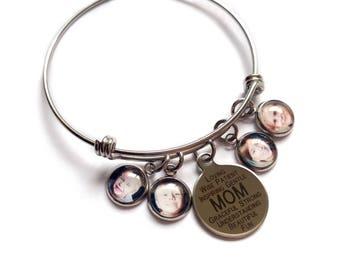 Mom Bracelet / Mom Gift / Photo Charm Bracelet / Photo Bracelet / Custom Photo Bracelet / Mom Jewelry / Mom Charm Jewelry / Mom Gift