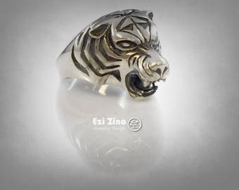 TIGER KING'S KENPO Solid Sterling Silver 925 ring
