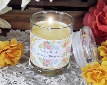 3.oz Autumn Harvest Candle, Jar Candle, Altar Candle, Fall Candle. Mabon Candle