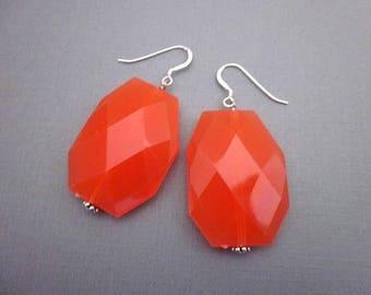 Orange Team Accessories -- Orange Accessories for Sports -- Orange Spirit Jewelry -- Orange Sport Jewelry -- Team Color Dangles -- Acrylic