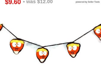 Silly Face Candy Corn Banner Halloween Decoration Party Banner Home Decor Hanging Banner Garland