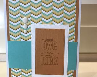 Goodbye and good luck farewell retirement card