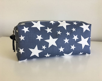 Toiletry/Cosmetics Bag - Starry on Grey