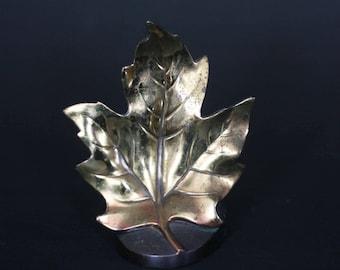 vintage maple leaf bookend