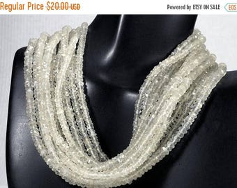 ON SALE Ceylon Moonstone Beads Faceted Moonstone Rondelles Roundels Rondels Earth Mined Gemstone - 7 Inch Strand  3.5mm