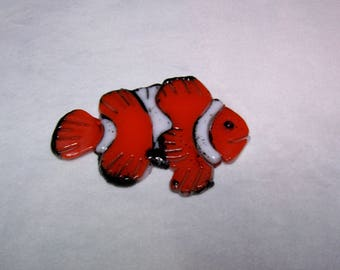 Fish ,Glass Fish, Clown Fish, Stained Glass Fish, Mosaic Supplies, Fused Glass Fish