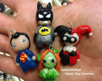 Kawaii Super Hero Polymer Clay Charm