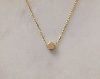 Gold Dot Necklace - Minimalist Gold Necklace - Modern Gold Necklace