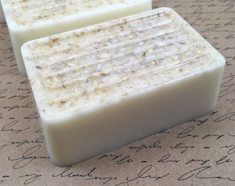 Oatmeal Soap Big Bar of Luxury Goat's Milk Soap | One Bar of Goat's Milk Soap | Gift for Her | Handmade Soap | Oatmeal Goat's Milk Soap