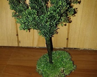 Handmade minature trees from Real dried floral/Doll house/Fairy/Train sets/Terrariums