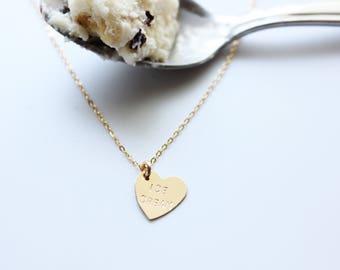 ICE CREAM Heart Charm Necklace