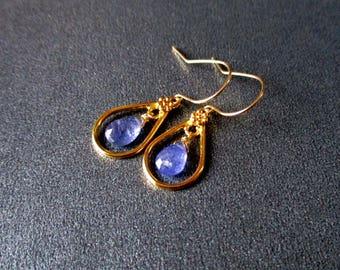 Tanzanite Vermeil Earrings