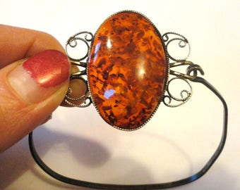 Beautiful Amber and Sterling Bracelet