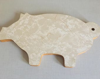 Old Formica Pig Cutting Board