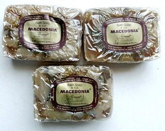 3 Rare Vintage MACEDONIA SOAPS Coconut Glycerine Iodine Salts 6oz Bars Made in Spain
