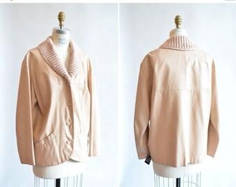 25% off Storewide // Vintage ANABEL VARGA  spring leather jacket