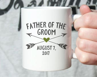 Father of the Groom Gift from Groom Father of the Groom Gift from Son Father of the Groom Wedding Gift for Dad from Son Mug Custom