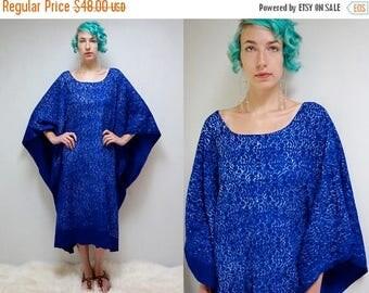 sale 25% off - 70s Batik Caftan  //  Cotton Caftan //  Kaftan Dress  //  THE BAVINDA