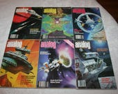 Six 6 Vintage Science Fiction Analog Science Fact Magazines, 1978