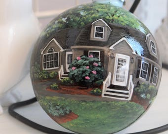 Hand Painted Custom House Ornament