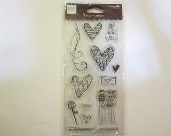 12 cling mount stamps - Heidi Grace VALENTINE'S DAY - 2008