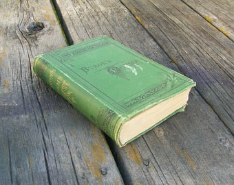 Antique Book The Select Poetical Works of Lord Byron with A Memoir of the Author
