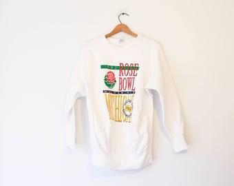 Vintage White University of Michigan Wolverines 1992 Rose Bowl Sweatshirt