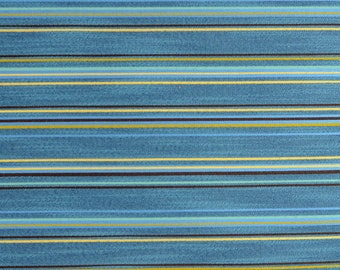 Blue Horizontal Striped Upholstery Fabric