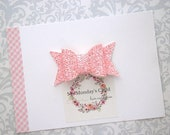 Glitter Hair Bow, Glitter Bows, Pink Glitter Bow, Glitter Hair Clip, Pink Bow, Toddler Bows, Girls Bows, Toddler Hair Bow, Girls Hair Bows