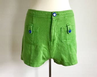 Vintage Greeny Green Forever 21 Shorts // 1990s