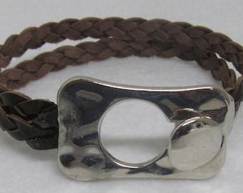 "Leather Bracelet ~ Brown ~ 7 12"""