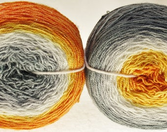 Dyed for YOU Gradient Ombre Fingering Yarn  - Watch Hill Sparkles - MUMS the WORD