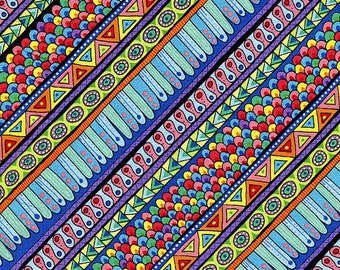 New - Night Bright Stripe  - Wilmington Prints - 1 yard - More Available - BTY