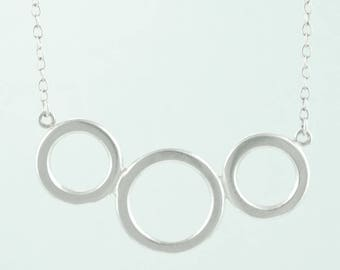 Three Circle Infinity Necklace ∙ 3 Ring Necklace ∙ Sterling Silver  Everyday Jewelry ∙ Minimalist Necklace ∙ Gift for Mom ∙ Sisters Necklace
