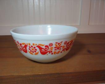 Pyrex Friendship Mixing Bowl, 403 Birds & Flowers, Kitchen, Baking, 1970s PX400