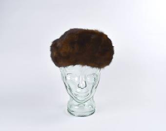 Women's Brown Mink Fur Beret