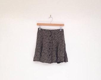 SALE Vintage 1990s Floral Grunge Mini Skater Skirt