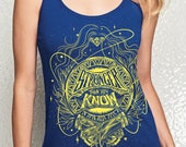 Wonder Woman Tank Top Pre-order // Stronger Than You Know Tank Top // Hand Screen Printed // Comic Book Blue and Yellow