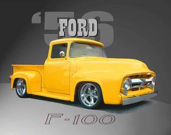 PRINT 1956 Ford F-100 Classic
