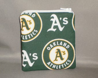 Oakland A's - Coin Purse - Gift Card Holder - Card Case -Small Padded Zippered Pouch - Mini Wallet - Baseball - Athletics