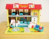 RESERVED Vintage Fisher Price Play Family Hospital