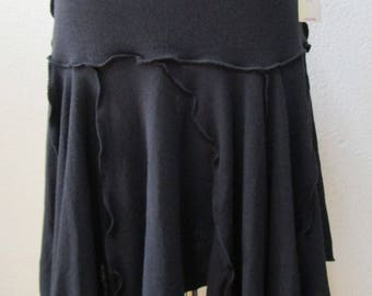 Black color skirt OR tube dress with ruffled edging and plus made in LOCAL USA  (v52)