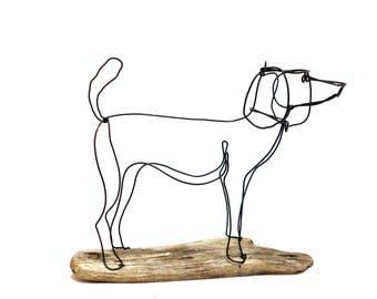 Dog Wire Sculpture, Dog Wire Art, Dog Home Decor, 571469255