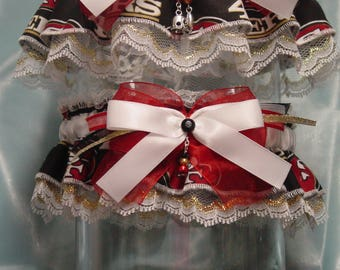 San Francisco 49ers Wedding Garter Set