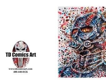Ant-man greeting card of original comic art marvel art,comics,black Friday,super heroes, villains,dc comics,wall art,home decor,marvel art