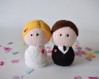 Bride and Groom toy knitting patterns