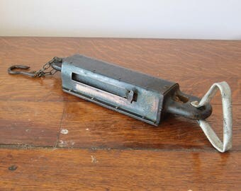 Vintage Chatillon's Iron Clad 200 pound spring balance scale, barn scale, cast iron and brass